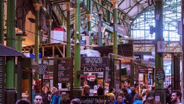 Borough Market near Southwark in London