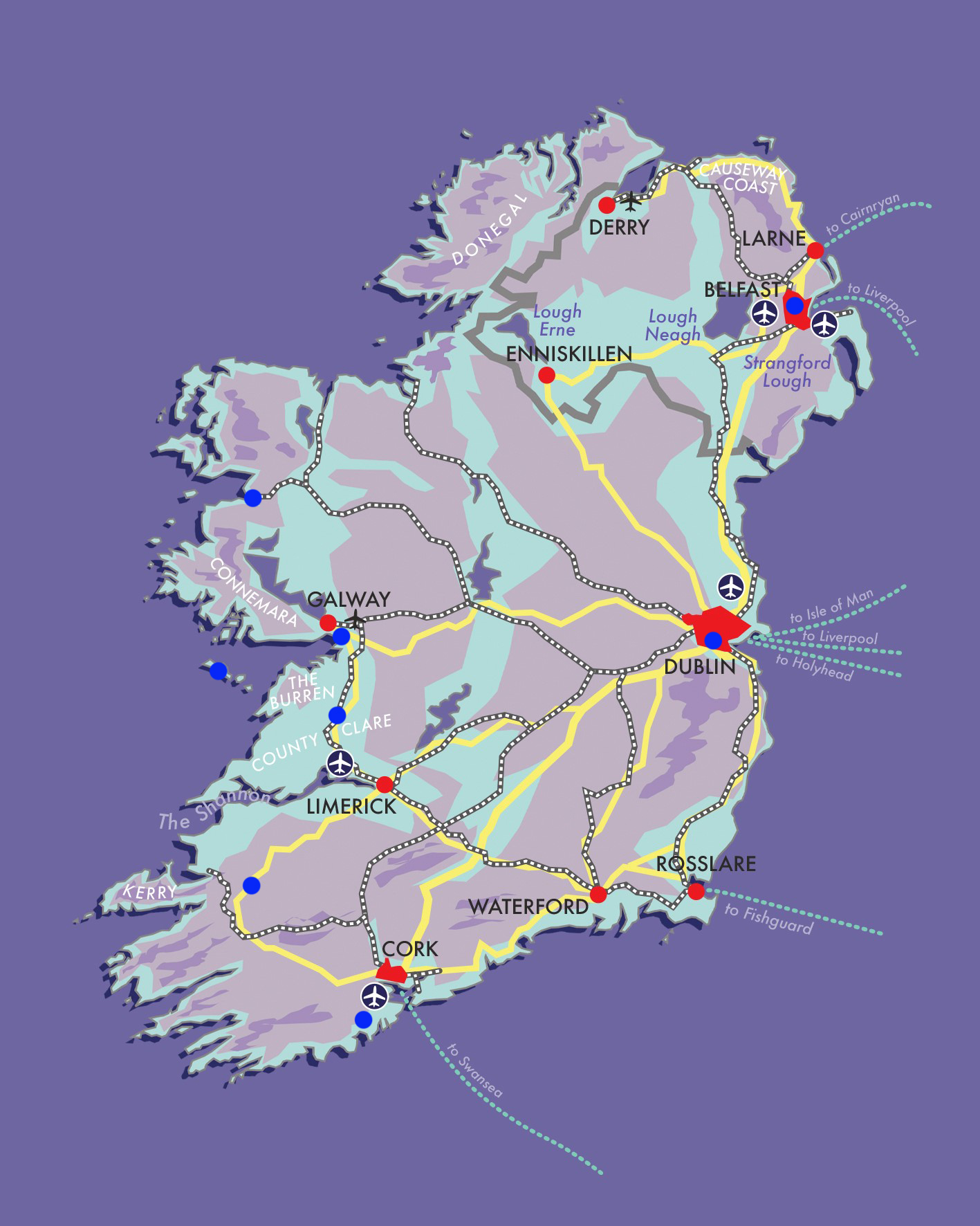 Grand Tour of Ireland by Train