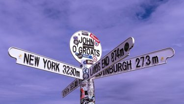 Spot the iconic sign at John O'Groats
