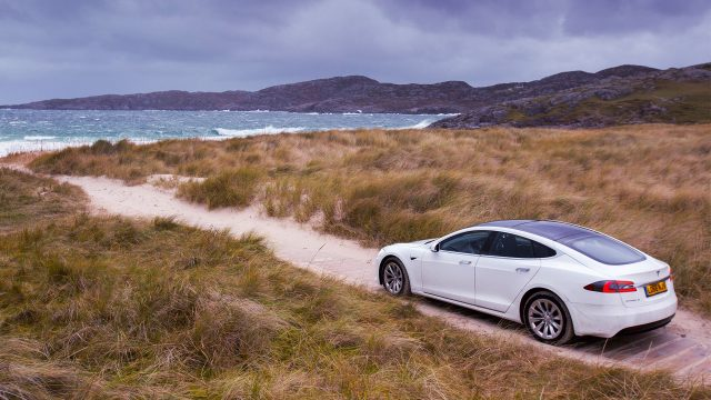 Tesla at Achmelvich Bay - by Matilda Temperley