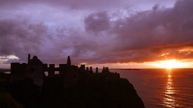 Sunset at Dunluce Castle