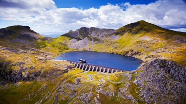 Aerial view of Blaenau Ffestiniog - Crown copyright Visit Wales