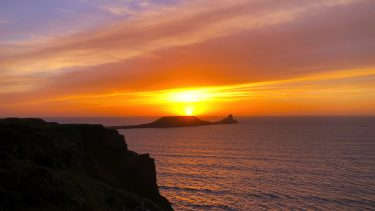 Sunset over the Gower Peninsula