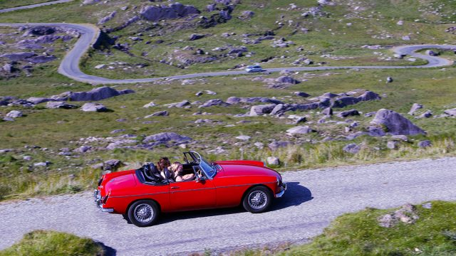 Drive a classic car across Ireland's iconic landscapes