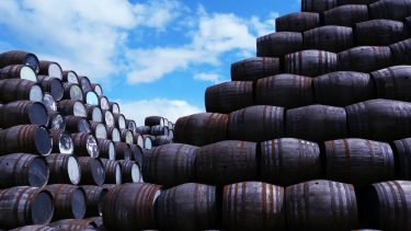 Whisky barrels at the Speyside Cooperage