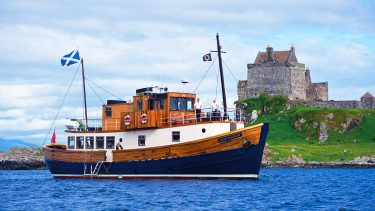 Anchored off Duart Castle - Majestic Line Cruises