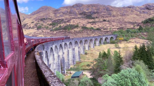 Cross the Glenfinnan Viaduct on the Harry Potter Stream Train