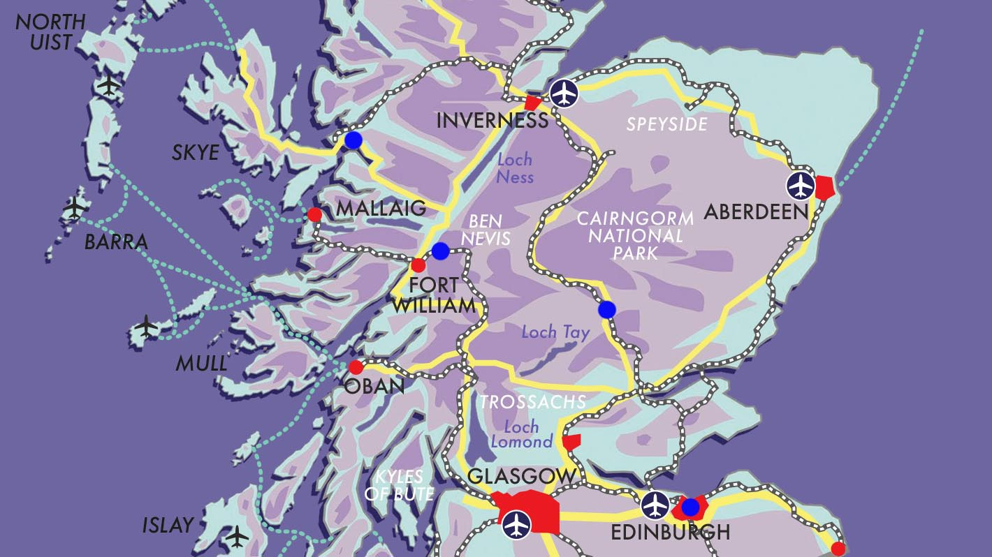 Castles, Gardens, Skye & Glencoe Guided Rail Tour