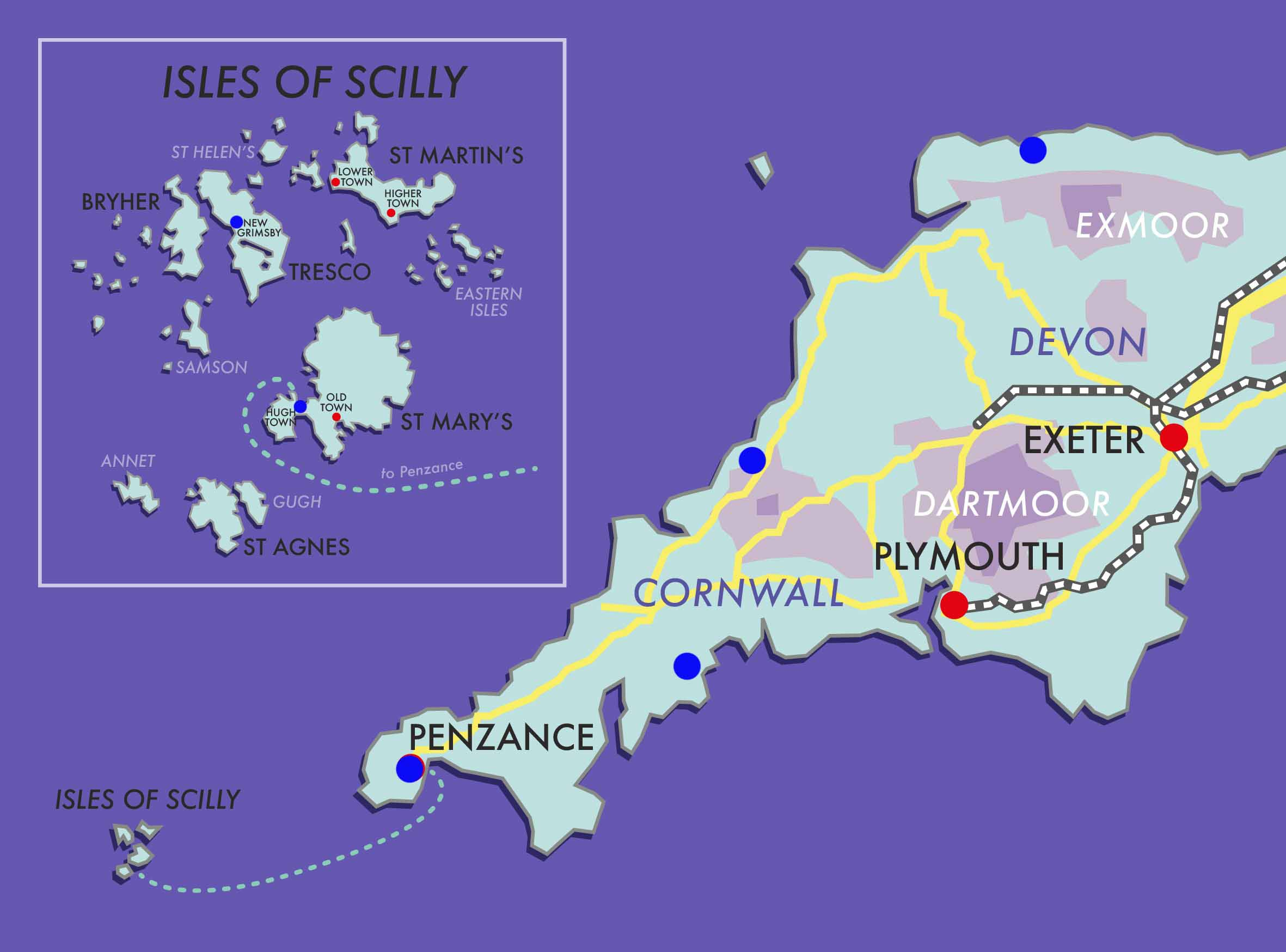 Devon, Cornwall & The Isles of Scilly