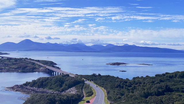 Isle of Skye from Kyle of Lochalsh