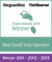 Guardian Travel Awards Winner 2011, 2012, 2013, 2014